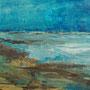 """""""Rügen - Strand und Meer"""" - Acryl auf Malplatte gespachtelt, 40 x 50, 2010"""