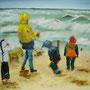 """Ahrenshoop - Spiel im Sturm"" - Acryl auf Leinwand, 40 x 50, 2007"