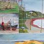 """""""Kurische Nehrung - Impression II"""" - Acryl auf Leinwand, 4teilig, 60 x 50, 2008"""