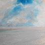 """Amrum - Auf dem Kniepsand"", Acryl auf Malplatte gespachtelt, 40 x 50, 2012"
