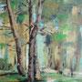 """""""Rügen - Wald"""" - Acryl auf Malplatte gespachtelt, 40 x 50, 2010"""