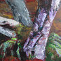 """Fischland Darß - """"Tote Bäume"""" -Acryl auf Malpappe gespachtelt, 18 x 24, 2015"""