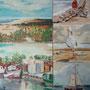 """""""Kurische Nehrung - Impression I"""" - Acryl auf Leinwand, 5teilig, 60 x 50, 2008"""