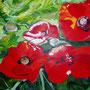 """Mohnblumen"" - Acryl auf Papier, 50 x 70, 2004"