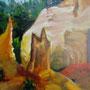"""""""Roussillon - Farbfelsen I"""" - Acryl auf Leinwand, 40 x 50, 2007"""
