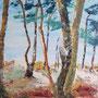 "Fischland Darß - ""Hinter den Dünen"" - Acryl auf Malpappe gespachtelt, 40 x 30, 2015"