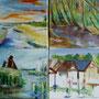 """Ahrenshoop - Strandinspiration"", Acryl auf Leinwand (4 x 20 x 20), 40 x 40, 2007"