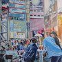 """Berlin zur Fußball-WM 2006"" -  Acryl auf Leinwand, 60 x 80, 2008"