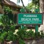 プアマナ・ビーチ・パーク。ここがあのプアマナですね!