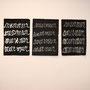 "Buzz Spector, murmur/murmur, 2011. Handmade paper, 19 1/2"" x 27"" each."