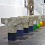 Leap the Boundless, Complete the Space, 2009. Cast concrete and paint, Dimensions variable.