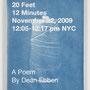 "Dean Ebben, 20 Feet 12 Minutes, 2009. Handmade accordian-style book. Cyanotype on cotton rag, 8 1/2"" x 11""."
