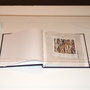 "Buzz Spector, Found Polaroids #9, 2010. Altered found book, 7 1/4"" x 6 1/4""."