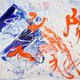 太陽神、100号 Sun God, 2010, 130.2 x 161.4 cm Acrylic on canvas (SOLD)