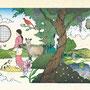 「かたづの!」装画 〜全体図〜(集英社)