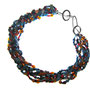 necklace - mixture of plastic, wood, coral and glass african beads with Infility closure