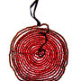 pendant - glass beads and iron wire
