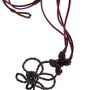necklace - leather cord and copper wire