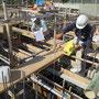 B工区基礎打設前設計検査状況