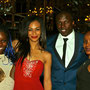 With Ava (Nala), Nicholas (Simba) and Gugwana (Rafiki) at the Edinburgh press night