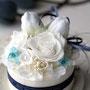 ホワイトブルーケーキ