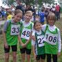 Luise, Emely, Phyllis und Jonas kurz vorm Laufen