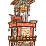 名刺用 高山祭屋台イラスト