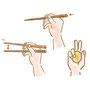箸の持ちかた冊子 説明図