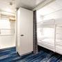 Familienkabine Außen Schlafbereich 2 | © TUI Cruises