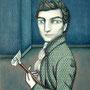 DANDY DOODLE. Acrílico sobre tela estampada. 60 x 50cm. Encargo personalizado.