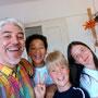 Proffessore leonardo con Martina, Andrej e Tarek (Arte bambini trieste)