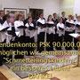 Der Stötten-Chor mit Spendenkonto