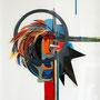 """""""Totem"""", 2010, 50 cm x 60 cm, Collage, verschiedene Materialien auf Papier"""