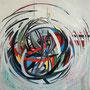 """Omphalos"", 2010, 80 x 80 cm, Öl auf Leinwand"