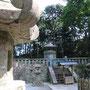 家康公御廟。身長155センチ、体重60キロだそうです!