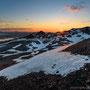 Midnight sun from 1000 metres above the sea (Hrúthálsar)