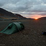 We set up a very windy camp during the sunrise