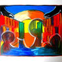 WEBE24 - 19,7*23,6 inch / 50*60 cm / oil on paper with linenstructure