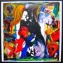 WEBE68 - 31,5*31,5 inch / 80*80 cm / oil and acryl on canvas, nicht mehr verfügbar