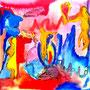 WEBE72 - 23,6*23,6 inch / 60*60 cm / aquarell,oil and acryl on canvas. Nicht mehr verfügbar