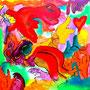 WEBE75 - 23,6*23,6 inch / 60*60 cm / aquarell,oil and acryl on canvas. Nicht mehr verfügbar