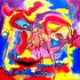 WEBE73 - 23,6*23,6 inch / 60*60 cm / aquarell,oil and acryl on canvas. Nicht mehr verfügbar