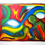 WEBE26 - 19,7*23,6 inch / 50*60 cm / oil on paper with linenstructure