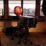 本当は来るはずだったともすけさん、代わりにきちんとドラムとだるまをセッティング。