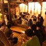 オープニングで、文教大の皆さんたちが昼間練習していた竹筒でお出迎え。