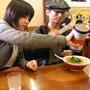 一緒にラーメンを食べてこの日はバイバイ。また大阪でね。