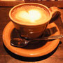 ライブ前にいただいた美味しいカフェラテ。