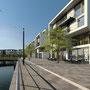 Pier4 am PHOENIX See in Dortmund. Architekturvisualisierung. Fotomontage.