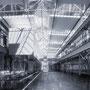 Umplanung einer Industrieanlage in eine Fachhochschule. Wettbewerbsbeitrag. Architekturvisualisierung.