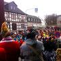 Rathaus Cafe Usingen Stürmung des alten Rathauses. Karnevals Umzug am 01.03.2014